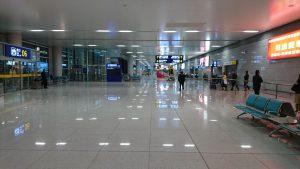煙台蓬莱国際空港に到着