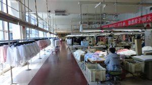 2階の縫製現場